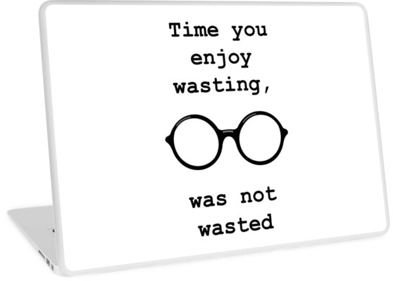 John Lennon Quote Time Not Wasted Laptop Skins By Getitgiftit