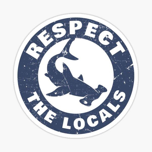 Respecter les requins marteaux locaux Sticker