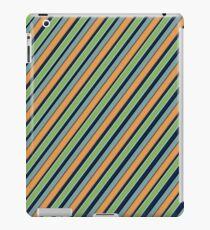 Oblique multi-colored stripes iPad Case/Skin