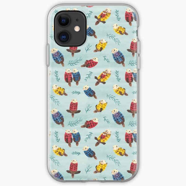 Sea Otters Wearing Plaid iPhone Soft Case
