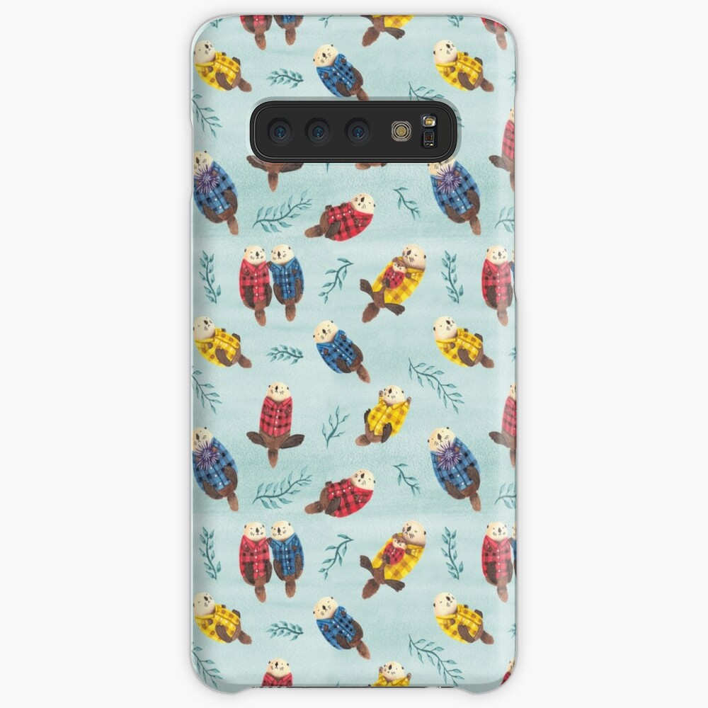 Sea Otters Wearing Plaid Case & Skin for Samsung Galaxy