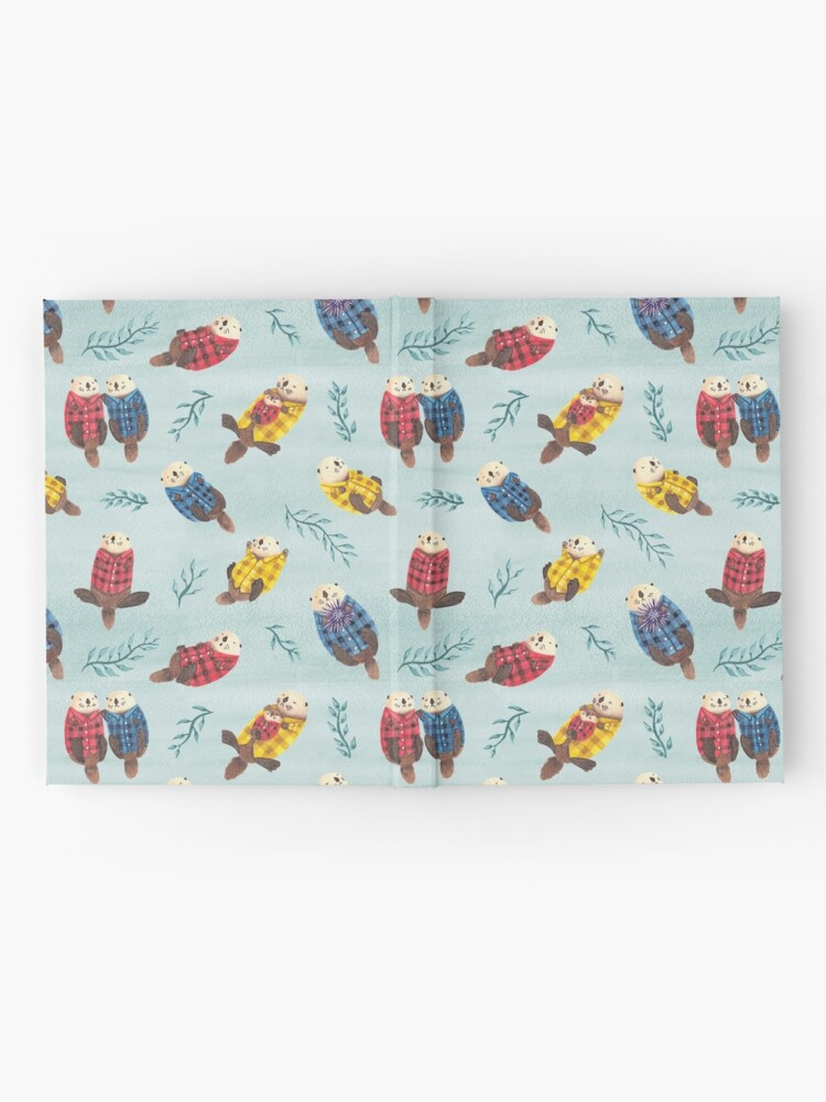 Alternate view of Sea Otters Wearing Plaid Hardcover Journal