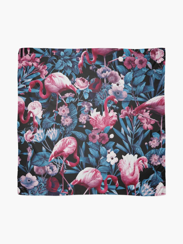 Alternate view of  Floral and Flamingo VIII Scarf