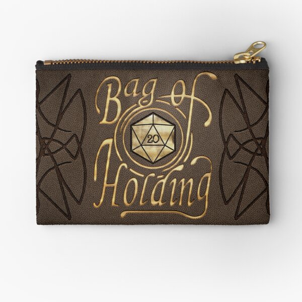 Bag of Holding (dark leather look) Zipper Pouch