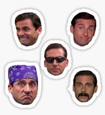 Many Faces of Michael Scott Sticker