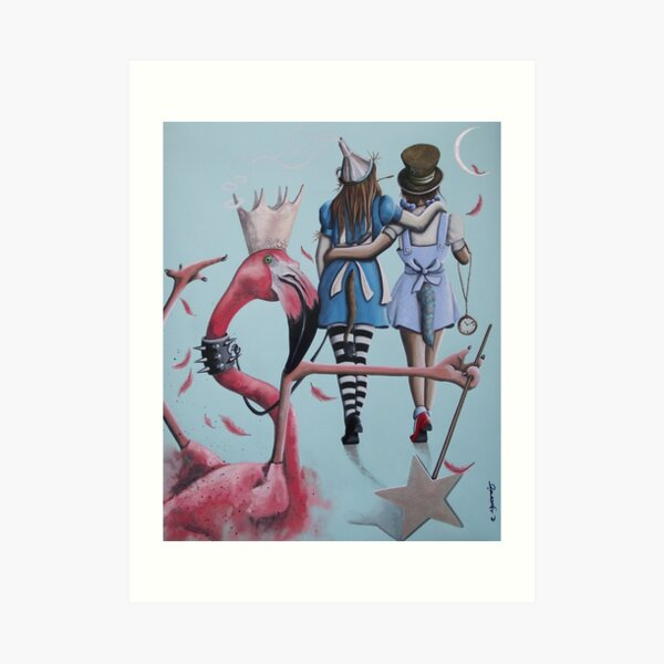 My Own Best Friend - Alice and Dorothy artwork Art Print