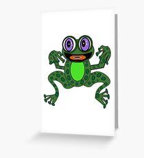 Tarjeta de felicitación Purps The Excitable Frog