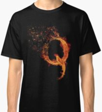 QAnon Fiery Q For Conspiracy  Lightning Theorist T-Shirt by Scralandore Design Classic T-Shirt