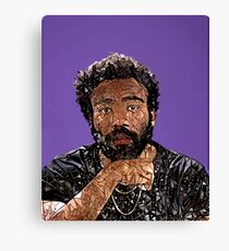 Abstract Donald Glover Canvas Print