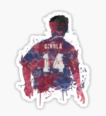 David Ginola Newcastle United Legend Art Sticker