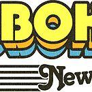 Hoboken, New Jersey | Retro Stripes by retroready