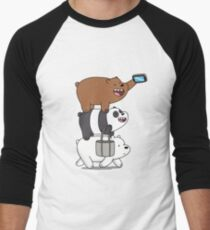 Tote Life - We Bare Bears Men's Baseball ¾ T-Shirt