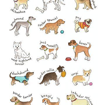 Breeds of Dog Illustration by HazelFisher