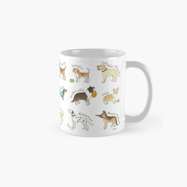 Breeds of Dog Illustration Classic Mug