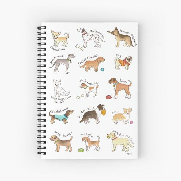 Breeds of Dog Illustration Spiral Notebook