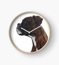 Brindle Boxer Clock