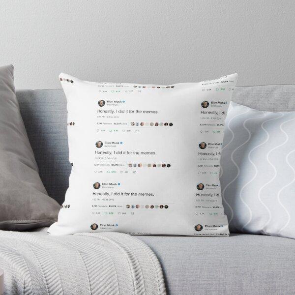Elon Musk Twitter Memes Throw Pillow