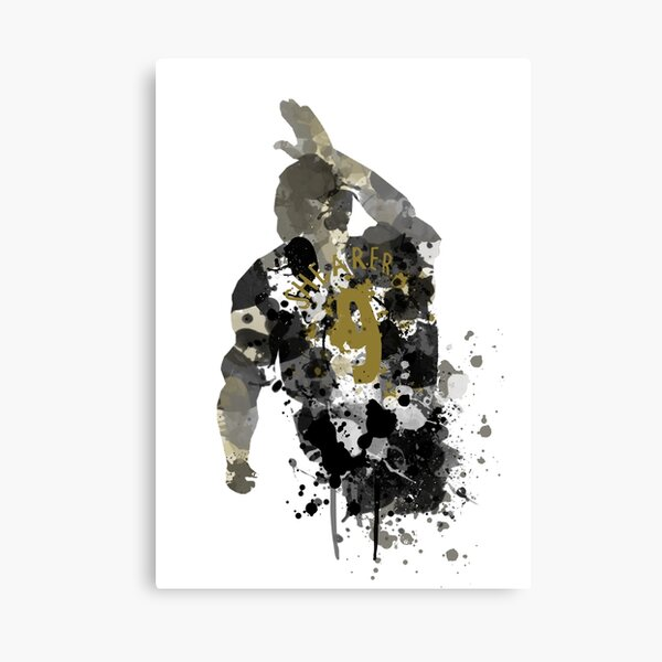 Alan Shearer Newcastle United Legend Art Canvas Print
