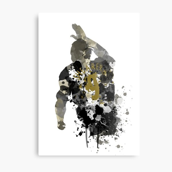 Alan Shearer Newcastle United Legend Art Metal Print
