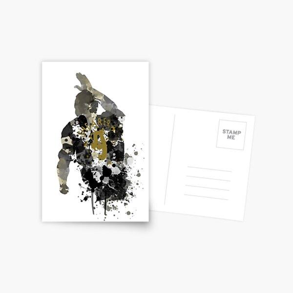 Alan Shearer Newcastle United Legend Art Postcard