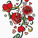 Single Love & Roses by bettinadreier75