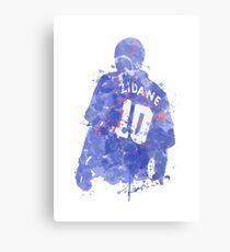 Zinedine Zidane French Legend Art Metal Print