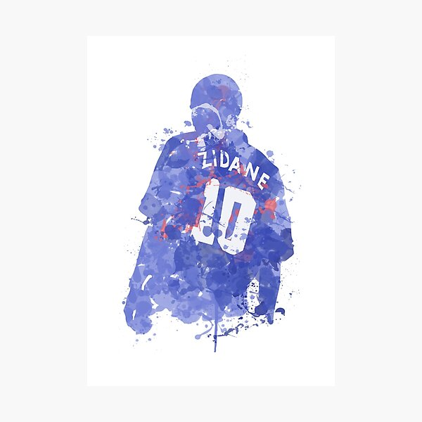Zinedine Zidane French Legend Art Impression photo