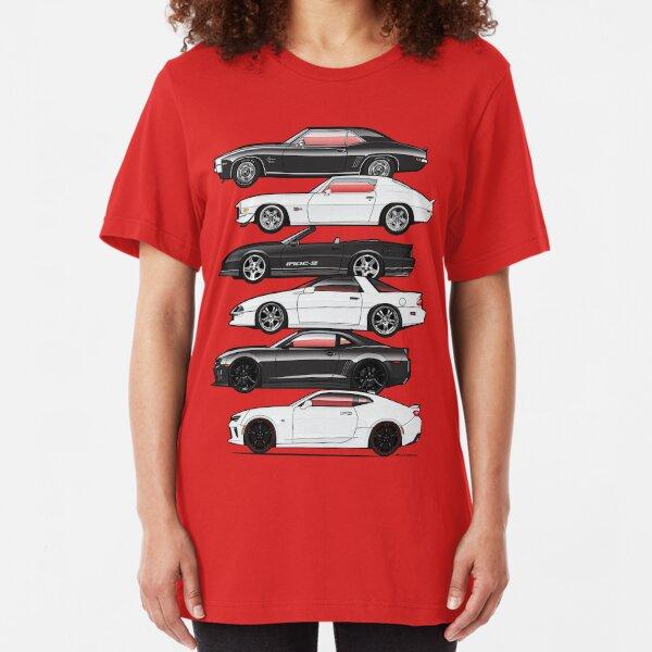 Six Gen Camaros Slim Fit T-Shirt