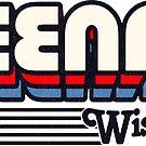 Neenah, Wisconsin | Retro Stripes by retroready