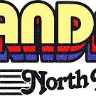 Mandan, North Dakota | Retro Stripes by retroready