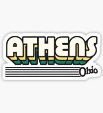 Athens, Ohio | Retro Stripes Sticker