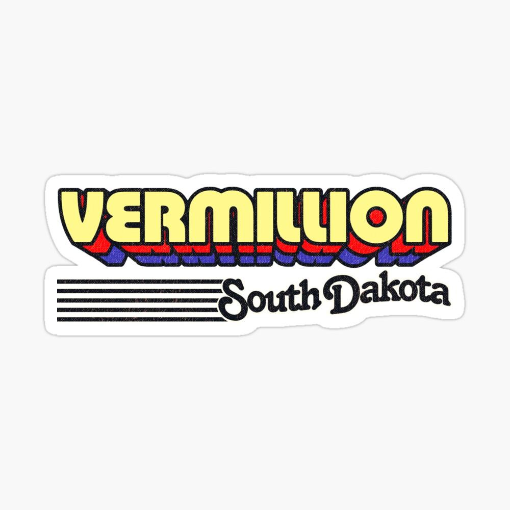 Vermillion, South Dakota   Retro Stripes Sticker