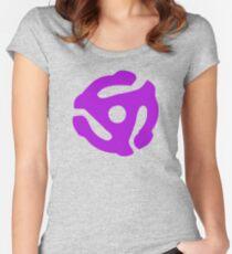 Purple 45 Vinyl Record Symbol Women's Fitted Scoop T-Shirt