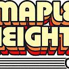 Maple Heights, Ohio | Retro Stripes by retroready