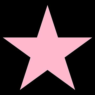 PINK STAR, Star, Pink, Show Girl, Girl Power, Stellar, on BLACK by TOMSREDBUBBLE