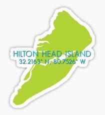 Hilton Head Island Coordinates Sticker