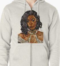 Abstract Cardi B Zipped Hoodie