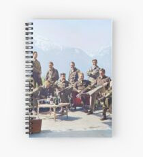 Dick Winters and his Easy Company (HBO's Band of Brothers) lounging at Eagle's Nest, Hitler's former residence in the Bavarian Alps, 1945.  Spiral Notebook