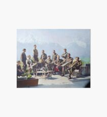 Dick Winters and his Easy Company (HBO's Band of Brothers) lounging at Eagle's Nest, Hitler's former residence in the Bavarian Alps, 1945.  Art Board