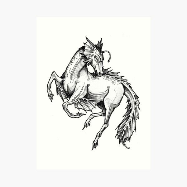 Kelpie: white collection (From the Deeps) Art Print