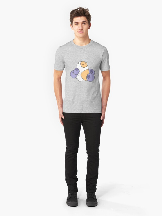 Alternate view of Guinea pig and blueberry  Slim Fit T-Shirt