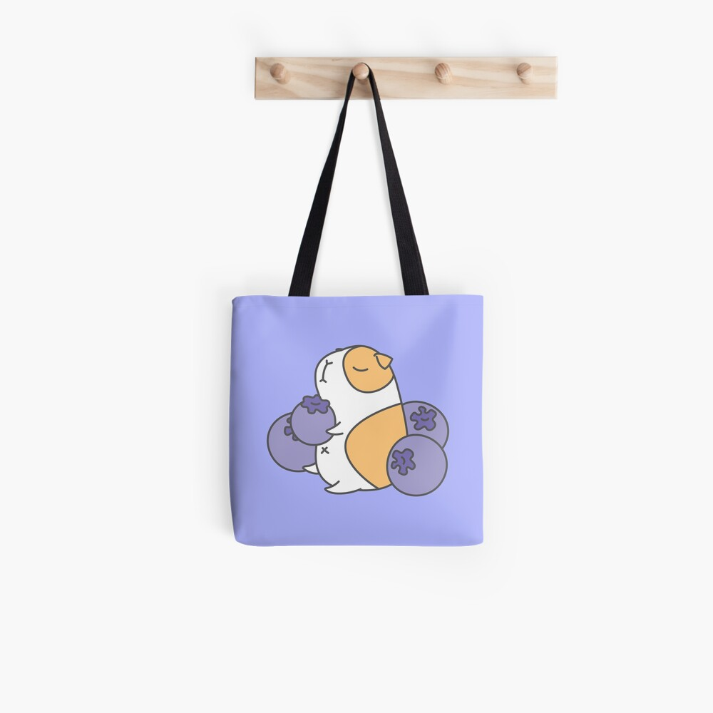 Guinea pig and blueberry  Tote Bag