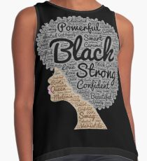 Black Woman Natural Hair Words In Afro Contrast Tank
