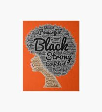 Black Woman Natural Hair Words In Afro Art Board