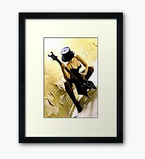.you and me and the devil Framed Print