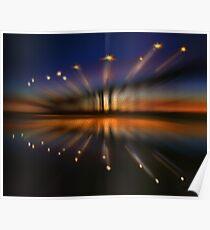 Boardwalk Sunset Poster