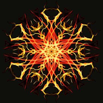 .Star, Mandala, Sacred Geometry, Meditation Focus, Chakra, Abstract, Geometric, Visionary Art, Psychedelic, Yoga by LeahMcNeir