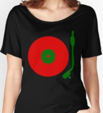 Red Green DJ Vinyl Record Turntable Women's Relaxed Fit T-Shirt