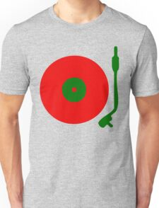 Red Green DJ Vinyl Record Turntable Unisex T-Shirt
