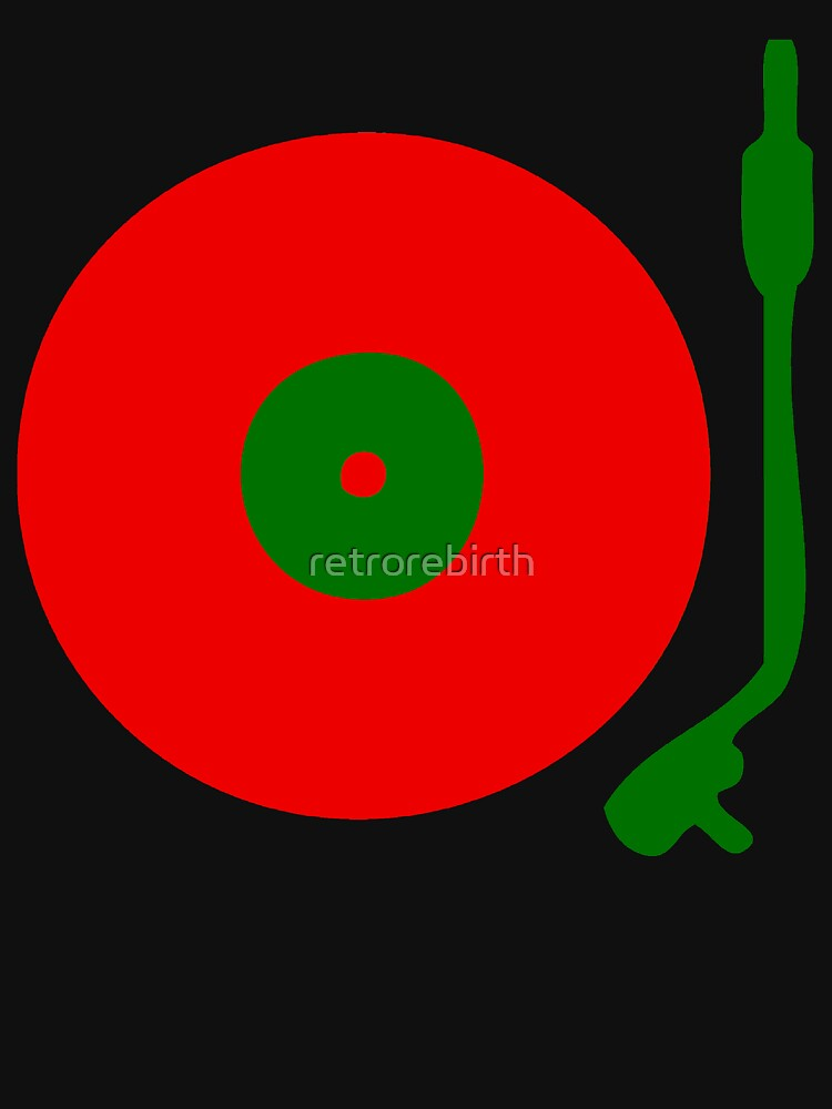 TShirtGifter presents: Red Green DJ Vinyl Record Turntable | Unisex T-Shirt